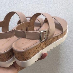 Madden girl Nude Sandals Chunky Platform
